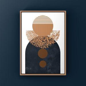 Scandinavian modern MCM boho abstract art print